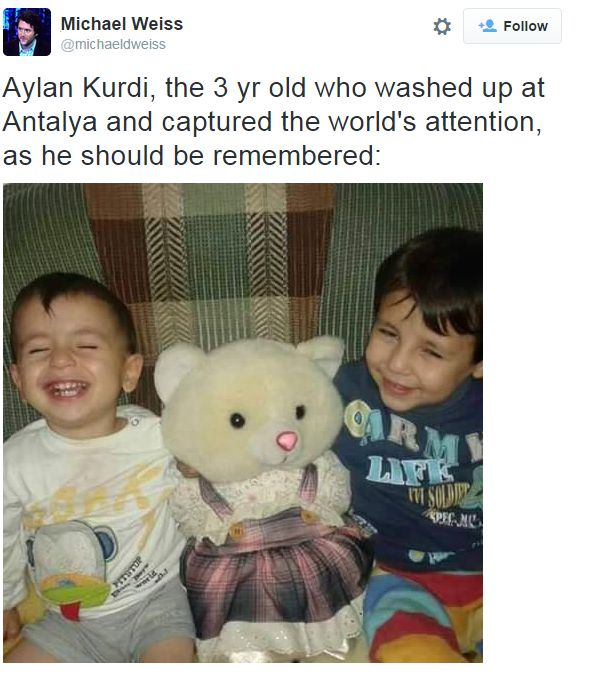 Tweet with image of two young children