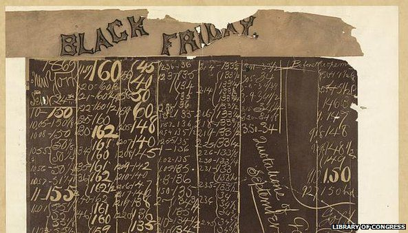 Black Friday chalkboard with gold prices