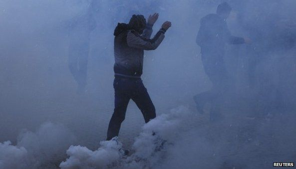 Clashes at the University of Pristina (7 February 2014)
