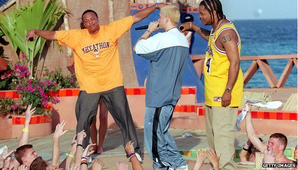Dr Dre, Eminem, and Xhibit
