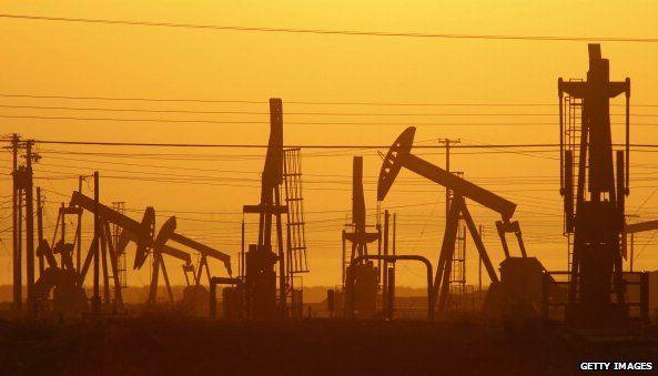 Oil rigs in California