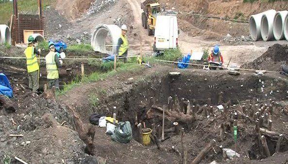Crannog excavation