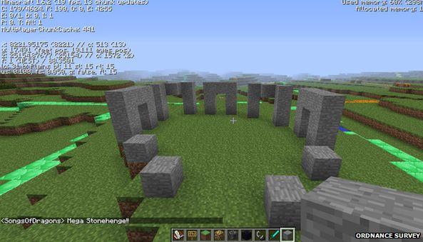 Minecraft version of Stonehenge