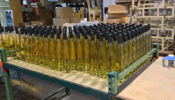 Bottles on table