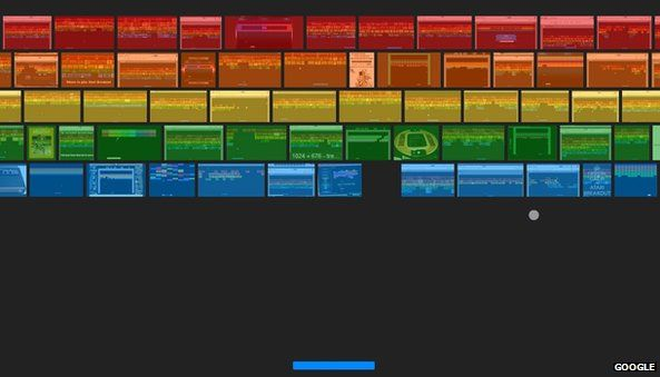 Atari Breakout game on Google