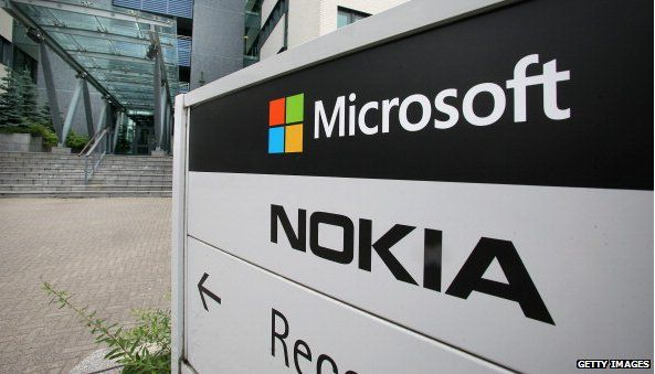 Sign with Microsoft and Nokia on it