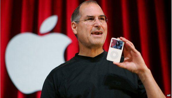 Steve Jobs holding iPod