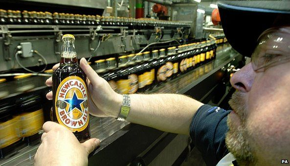 Bottles of Newcastle Brown Ale