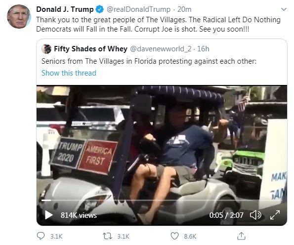Screengrab from tweet