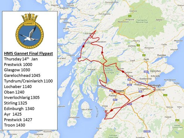 Flypast map