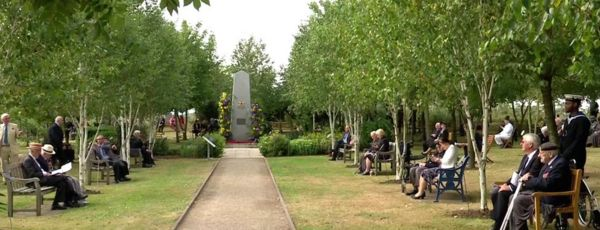Veterans and their families at the National Memorial Arboretum
