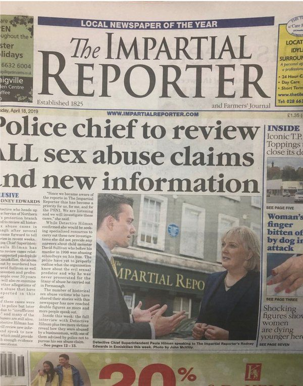 Impartial Reporter front page