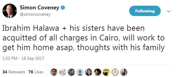 Simon Coveney tweets