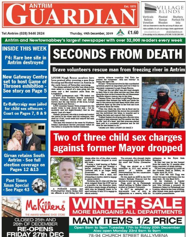Antrim Guardian front page