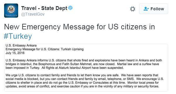 US State Department tweet