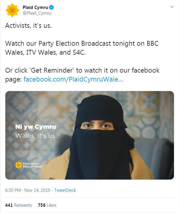 Plaid Cymru tweet