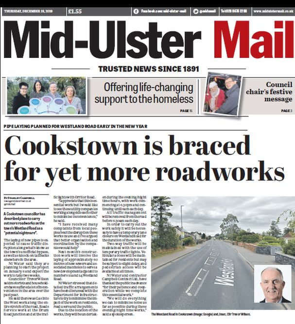 Mid Ulster Mail front page