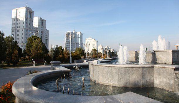 Ashgabat city centre, Nov 2014
