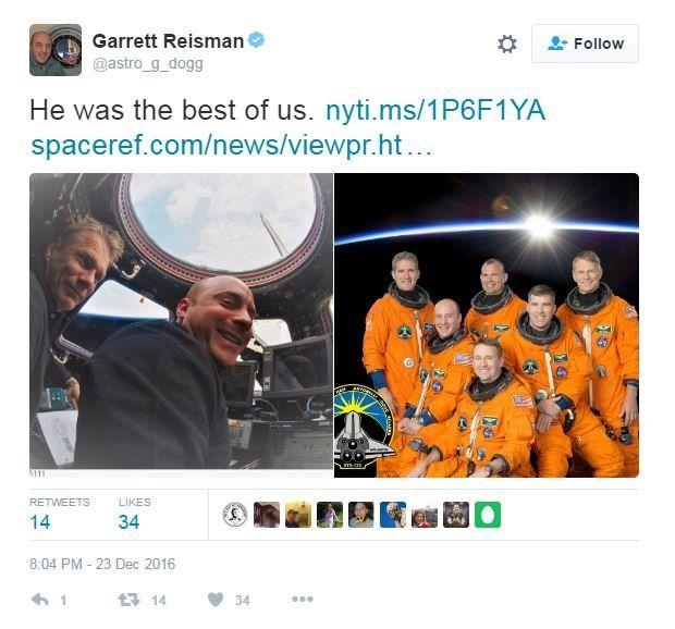 Garrett Reisman tweet