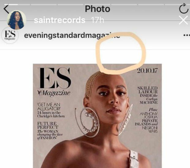 Solange instagram post
