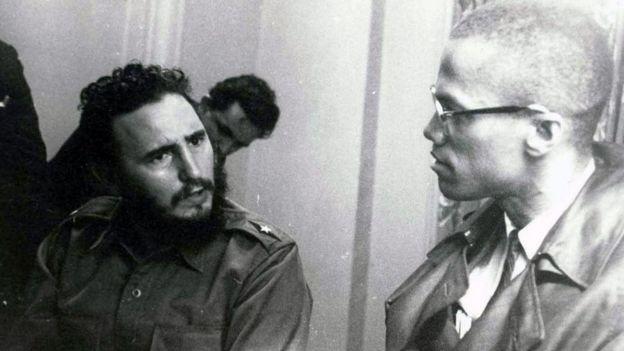 Castro com Malcom X em 1960