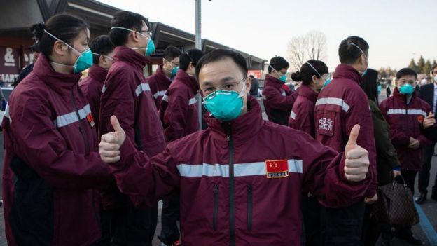 Китайские медики в Италии