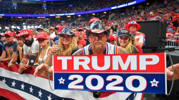 La estrategia electoral de Trump se basa en movilizar a sus seguidores más fieles.
