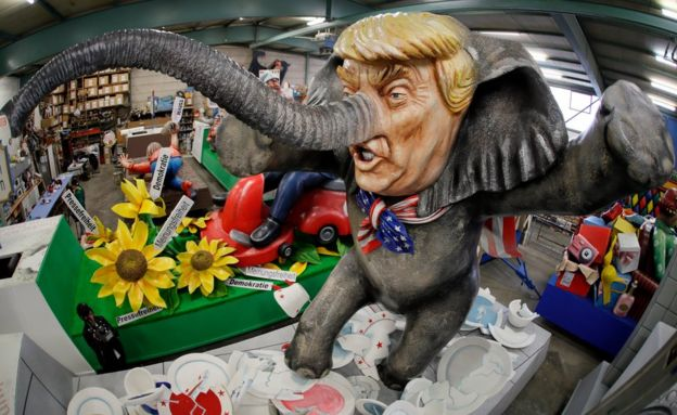 A carnival float titled