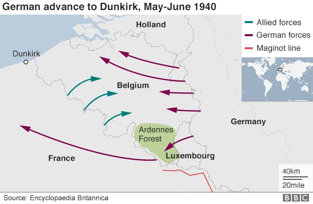 What actually happened at Dunkirk? - BBC News on stalingrad map, alpine line, soviet deep battle map, battle of leyte gulf map, germany map, siegfried line, battle of the somme map, siegfried line map, french indochina map, metaxas line, the rose line map, alpine wall, panzer map, sudetenland map, ouvrage schoenenbourg, czechoslovak border fortifications, 100th meridian map, treaty of tordesillas line of demarcation map, mannerheim line map, normandy map, ardennes map, dunkirk map, tokyo jr yamanote line map, battle of dien bien phu map, manchuria map, first battle of the marne map, atlantic wall,
