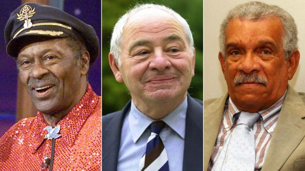 Chuck Berry, Colin Dexter and Derek Walcott