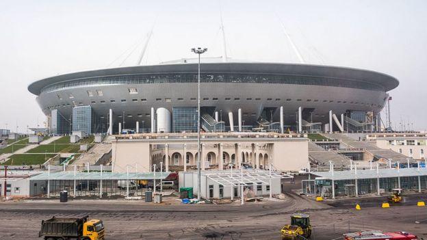 Estadio en San Petersburgo