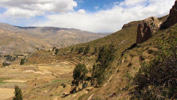 Ruinas en el Valle del Colca, Perú. (Foto: David Rodríguez Sotomayor/Proyecto Bioarqueológico Coporaque)