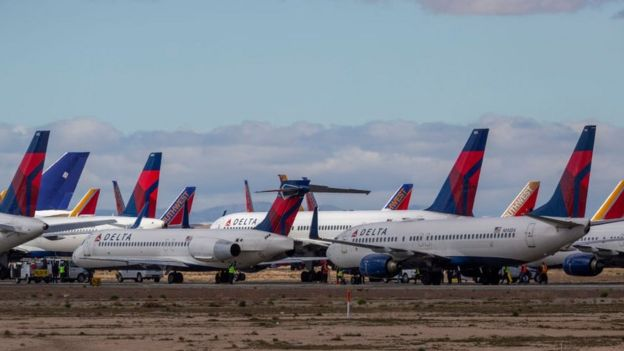 Delta planes grounded
