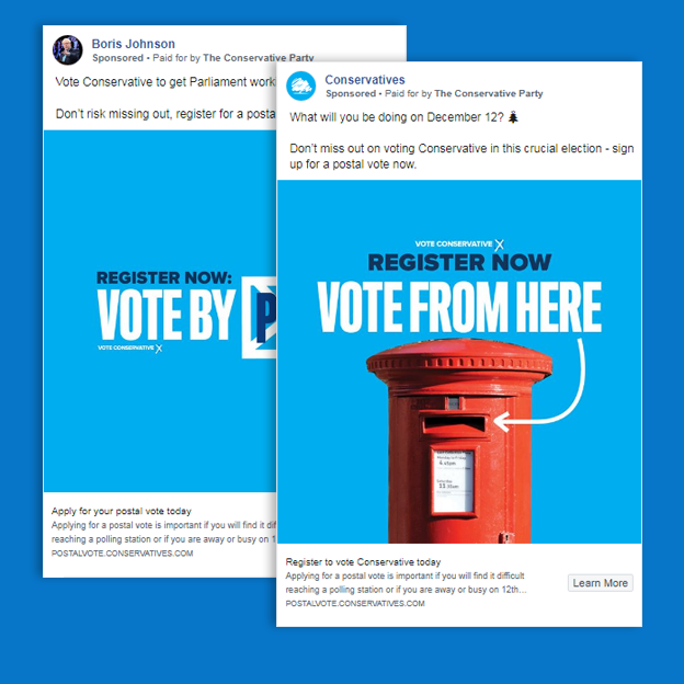 Two ads by the Conservative Party