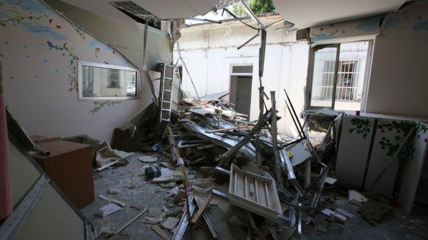 Damaged Karantina Governmental Hospital, in Beirut, Lebanon (17 August 2020