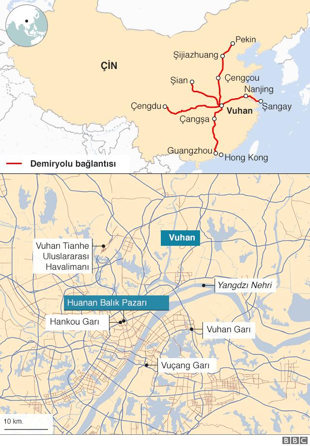 Vuhan haritası