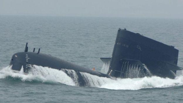 中国海军的新型潜艇