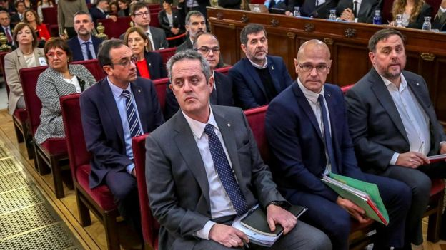 The 12 former Catalan separatist leaders at trial in Madrid