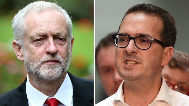 Jeremy Corbyn ac Owen Smith