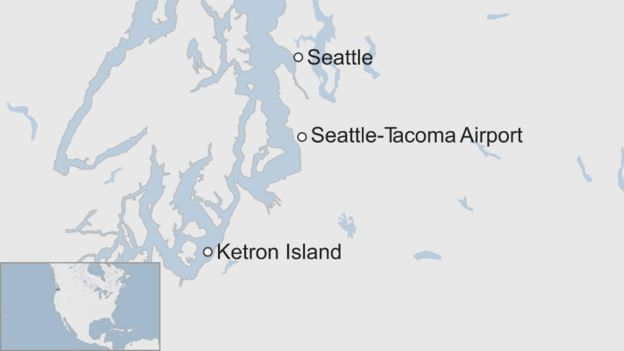 Seattle Map Airport.Stolen Plane Closes Seattle Tacoma Airport Before Crashing Bbc News