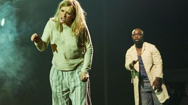 Michael Balogun and Anne-Marie Duff in Macbeth