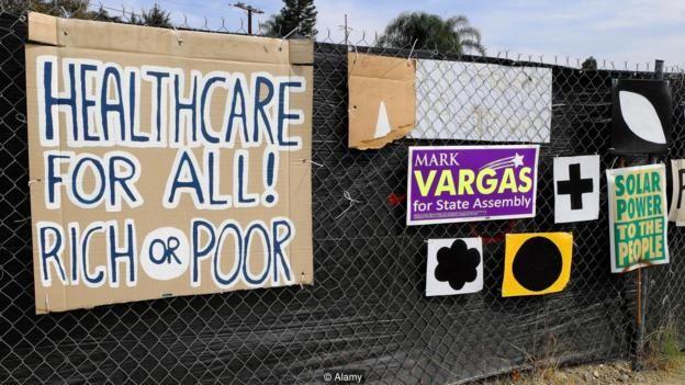 Reclamaciones de salud universal en Estados Unidos.