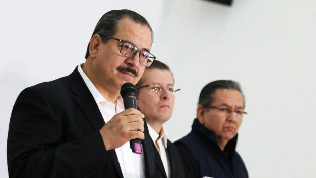 El fiscal Raúl Sánchez en rueda de prensa (Foto: Fiscalía de Jalisco)