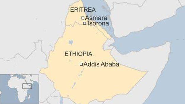 Ethiopia Eritrea border