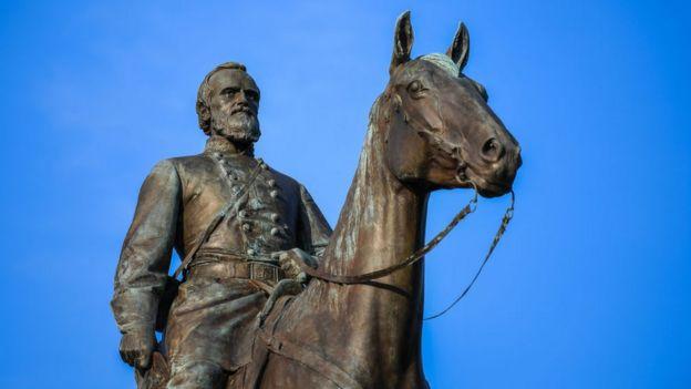 A statue on Monument Avenue in Richmond