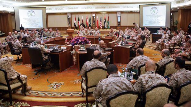 در ماه سپتامبر سال ۲۰۱۸ جلسهای با حضور فرماندهای ارتشهای کشورهای شورای همکاری خلیج فارس و نظامیان آمریکایی برگزار شد