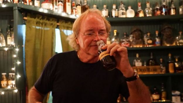 Bert Kirchner runs one of the island's last remaining traditional rum shops
