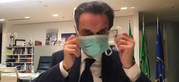 Lombardy governor Attilio Fontana