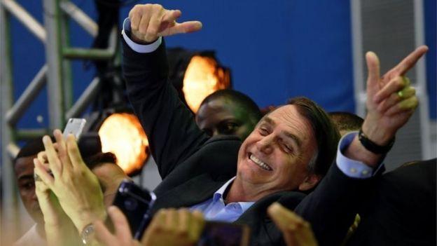 Jair Bolsonaro em convenção partidária no Rio de Janeiro