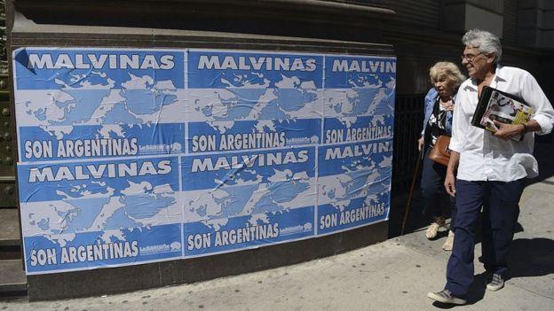 Cartel de Malvinas Argentinas